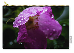 Carry-all Pouch featuring the photograph Wet Wild Rose by Darcy Michaelchuk