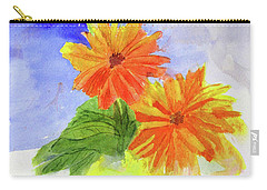 Wet Zinnias Carry-all Pouch