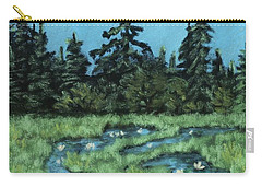 Carry-all Pouch featuring the painting Wetland - Algonquin Park by Anastasiya Malakhova
