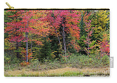 Carry-all Pouch featuring the photograph Wetland Fall Foliage by Alan L Graham