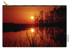 Carry-all Pouch featuring the photograph Wetland Sunset by Robert Geary