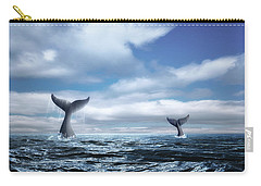 Whale Of A Tail Carry-all Pouch by Tom Mc Nemar