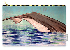 Carry-all Pouch featuring the photograph Whale Tail    Pastel   Sold by Antonia Citrino
