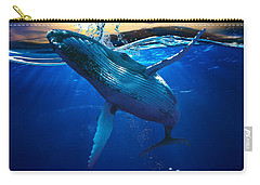 Whale Watching Art Carry-all Pouch