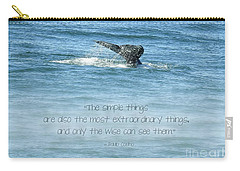 Carry-all Pouch featuring the photograph Whale's Tail by Peggy Hughes