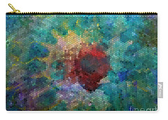 Carry-all Pouch featuring the digital art What A Bee Sees by Claire Bull