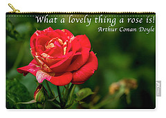 What A Lovely Thing A Rose Is Carry-all Pouch