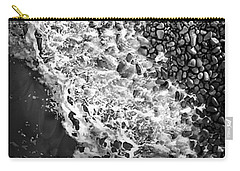 What Are Waves, Black And White Carry-all Pouch