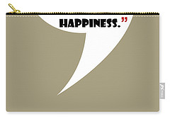 What Is Happiness - Mad Men Poster Don Draper Quote Carry-all Pouch