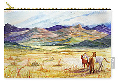 Carry-all Pouch featuring the painting What Lies Beyond by Marilyn Smith