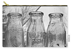 What The Milk Man Left, Bw Carry-all Pouch by Sandra Church