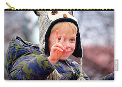 Carry-all Pouch featuring the photograph What The World Needs Now by Barbara Dudley