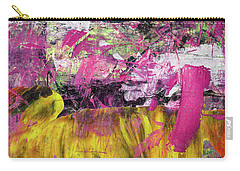 Whatever Makes You Happy - Large Pink And Yellow Abstract Painting Carry-all Pouch