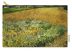 Carry-all Pouch featuring the painting Wheat Field With Alpilles Foothills In The Background At Wheat Fields Van Gogh Series, By Vincent  by Artistic Panda