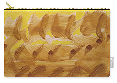Carry-all Pouch featuring the painting Wheatfields  by Don Koester