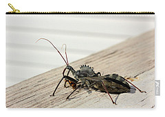 Wheel Bug With Prey Carry-all Pouch by Kristin Elmquist