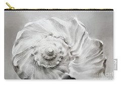 Carry-all Pouch featuring the photograph Whelk In Black And White by Benanne Stiens