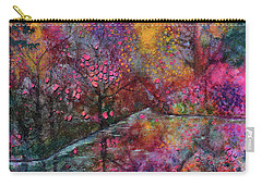 When Cherry Blossoms Fall Carry-all Pouch by Donna Blackhall
