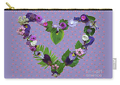 Carry-all Pouch featuring the mixed media When Love Is New by Nancy Lee Moran