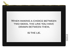 When Making A Choice Between Two Sides... Carry-all Pouch
