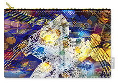 Carry-all Pouch featuring the digital art When Music And Art Embrace by Margie Chapman