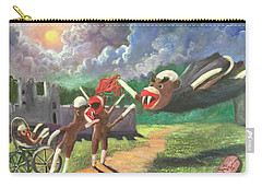 Carry-all Pouch featuring the painting When Sock Monkeys Become Vampires by Randol Burns