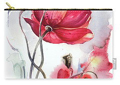 Carry-all Pouch featuring the painting When The Mists Fall Down by Anna Ewa Miarczynska