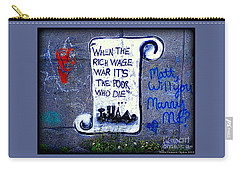 When The Rich Wage War It's The Poor Who Suffer Carry-all Pouch by Peter Gumaer Ogden