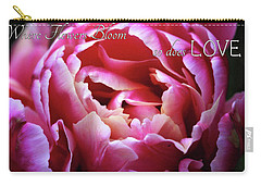 Carry-all Pouch featuring the photograph Where Flowers Bloom by Trina Ansel