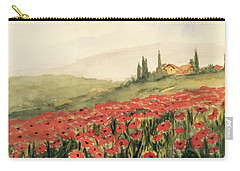 Where Poppies Grow Carry-all Pouch by Heidi Patricio-Nadon
