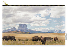 Where The Buffalo Roam Carry-all Pouch by Alex Lapidus