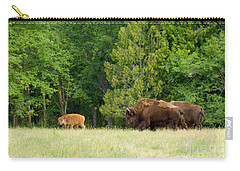 Where The Buffalo Roam Carry-all Pouch by Sean Griffin