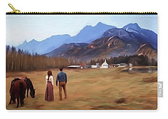 Where The Heart Is - Landscape Art Carry-all Pouch by Jordan Blackstone