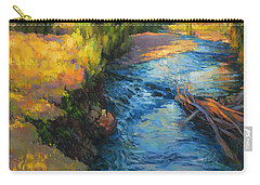 Carry-all Pouch featuring the painting Where The River Bends by Steve Henderson