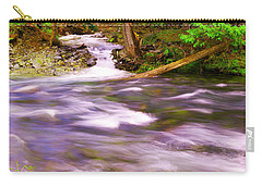 Carry-all Pouch featuring the photograph Where The Stream Meets The River by Jeff Swan