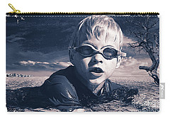 Carry-all Pouch featuring the digital art Where Will He Swim Tomorrow by Chris Armytage