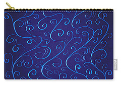 Whimsical Glowing Blue Swirls Carry-all Pouch