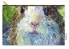 Whimsical Guinea Pig Painting Print Carry-all Pouch