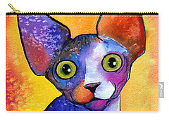 Whimsical Sphynx Cat Painting Carry-all Pouch