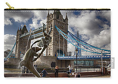 Whimsy At Tower Bridge Carry-all Pouch