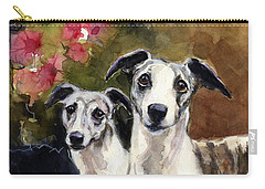 Whippets Carry-all Pouch by Molly Poole