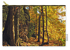 Carry-all Pouch featuring the photograph Whipp's Ledges In Autumn by Joan  Minchak