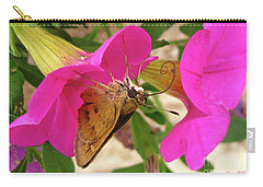 Whirl-about Skipper Butterfly Carry-all Pouch by Donna Brown