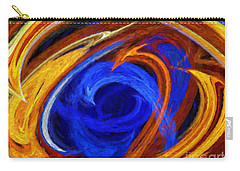 Carry-all Pouch featuring the digital art Whirlpool Abstract by Andee Design