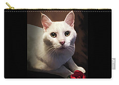 Whiskers And Rose Carry-all Pouch
