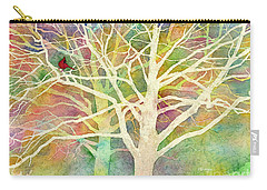 Carry-all Pouch featuring the painting Whisper by Hailey E Herrera