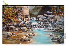 Carry-all Pouch featuring the painting Whisper Run Mill by Alan Lakin