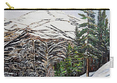 Carry-all Pouch featuring the painting Whispering Pines by Marilyn  McNish