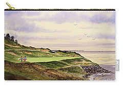 Carry-all Pouch featuring the painting Whistling Straits Golf Course Hole 7 by Bill Holkham