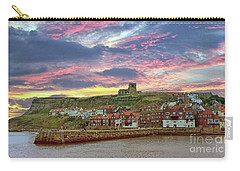 Whitby Abbey Uk Carry-all Pouch by Lynn Bolt